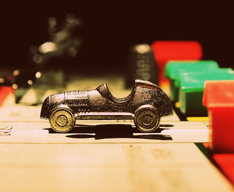Car figurine from the classic game of Monopoly